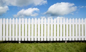 Fence white and made form wooden