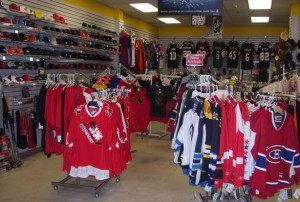 Sports Gear displays