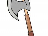 garden hand axe ilustration