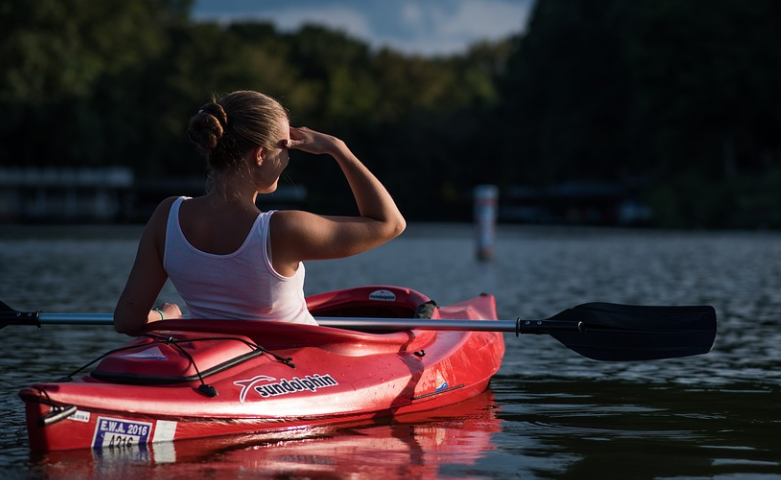 woman Kayaking expertly